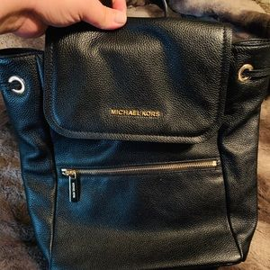 Michael Kors Rachel LG Flap Backpack Leather